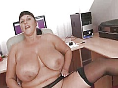 Big titted office brit...