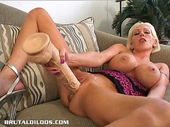 Milf kasey enjoys huge...
