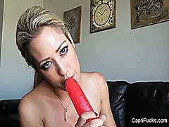 Capri plays with her b...