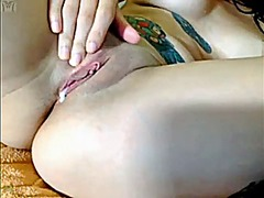 Emo inked babe camshow from Xhamster