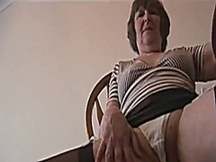 Sexy hairy granny in m...