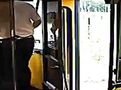 Woman on bus pumping b...