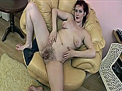 Hairy masturbation at ...