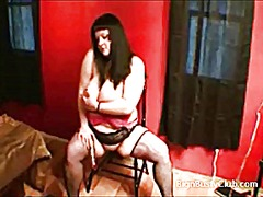 Goth woman with huge h...