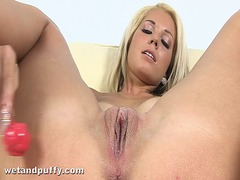 Wet orgasm for blonde ...