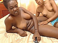 Black girl gets her pu...