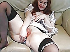 Girl in maid outfit us...