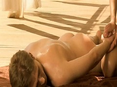 Erotic oilly massage
