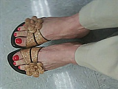 Sexy mature foot shoe ...
