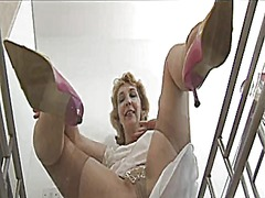 Granny shows her linge...