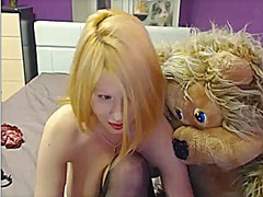 Blonde with great nips... from Xhamster