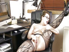 Bbw in black stockings 2 from Xhamster