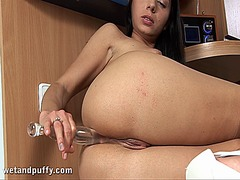 Beautys horny shaved t... from Ah-Me