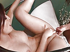 Hot lez action on a swing from Xhamster
