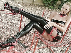 Danielle maye in latex...