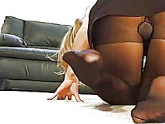 Amazon blonde pantyhose 2 from Xhamster