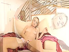 Sexy blonde fucks hers... from Xhamster