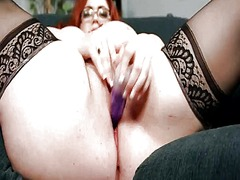 Bbw secretary gets off