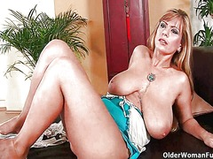 Busty mom gives her li...