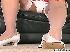 Shaved pussy feet look... from Ah-Me
