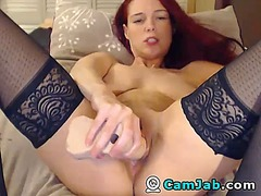 Redhead squirts a lot from Ah-Me