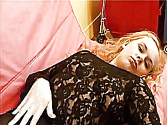 Blonde in sheer black ... from Xhamster