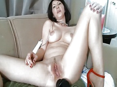 Babe has a sex toy in ... from Private Home Clips