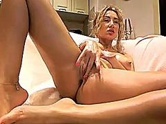 Sexy blonde strips and... from Xhamster