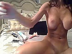 Sexy brunette milf toy... from Xhamster