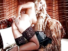 Glamour babe in sexy l...