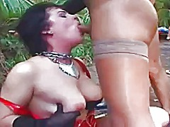 Slut gets roughed up b...