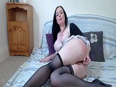 A beautiful brunette p... from Xhamster