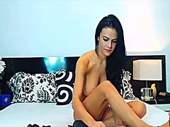 Hot brunette toys on cam from Xhamster
