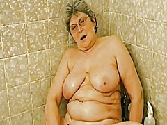 Grandma in the tub