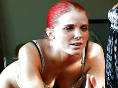 Xhamster - Redhead spanked by bit...
