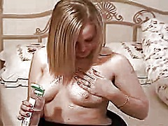 Beautiful blonde oils ... from Xhamster